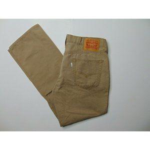Levi's 514 33 X 30 Slim Straight Tan Khaki Pants